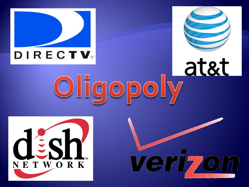  Oligopolies are industries which typically have a small number of large firms.