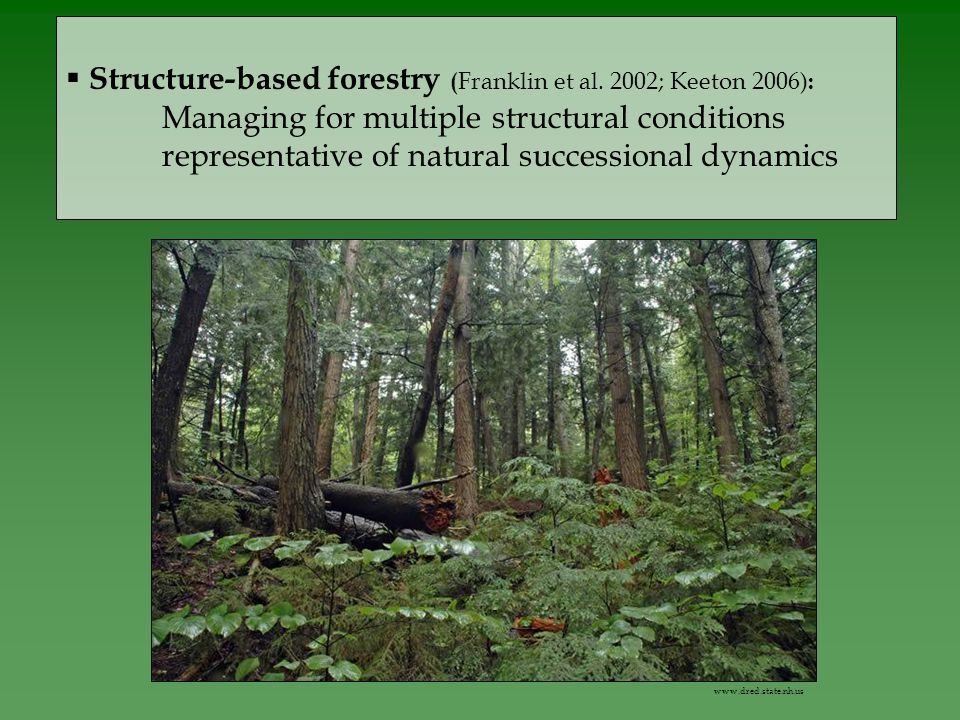  Structure-based forestry ( Franklin et al.