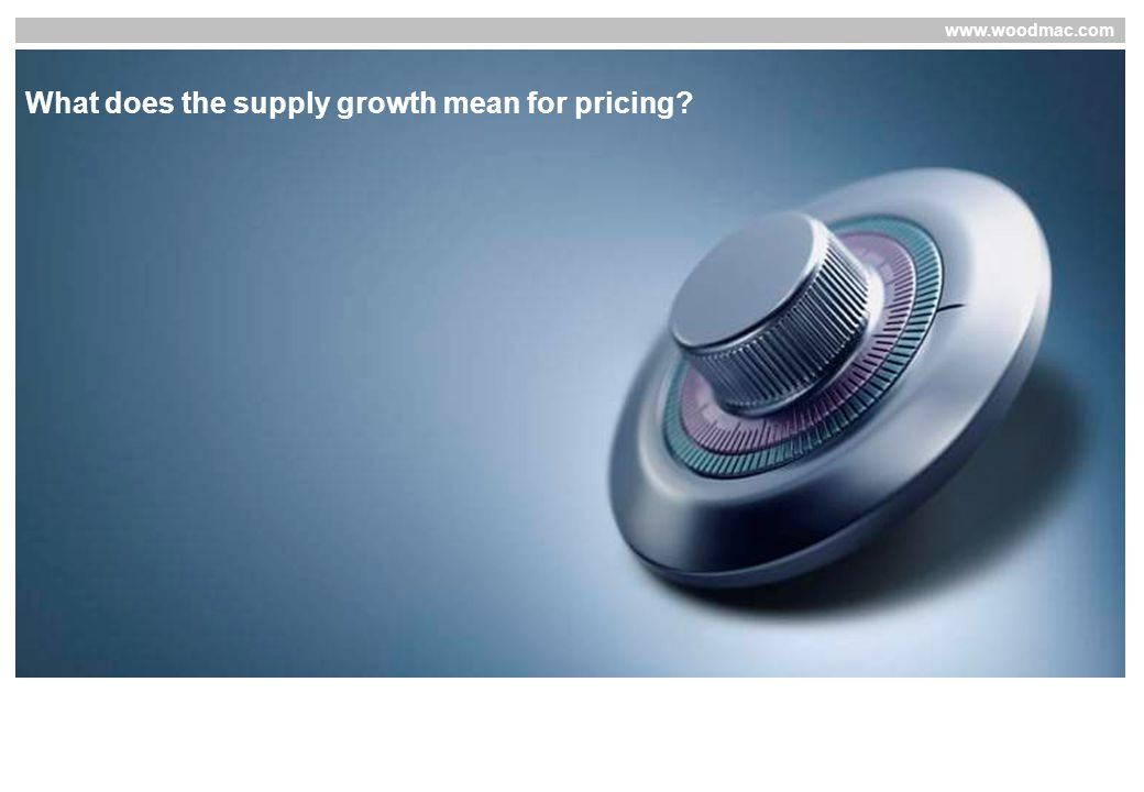 www.woodmac.com What does the supply growth mean for pricing
