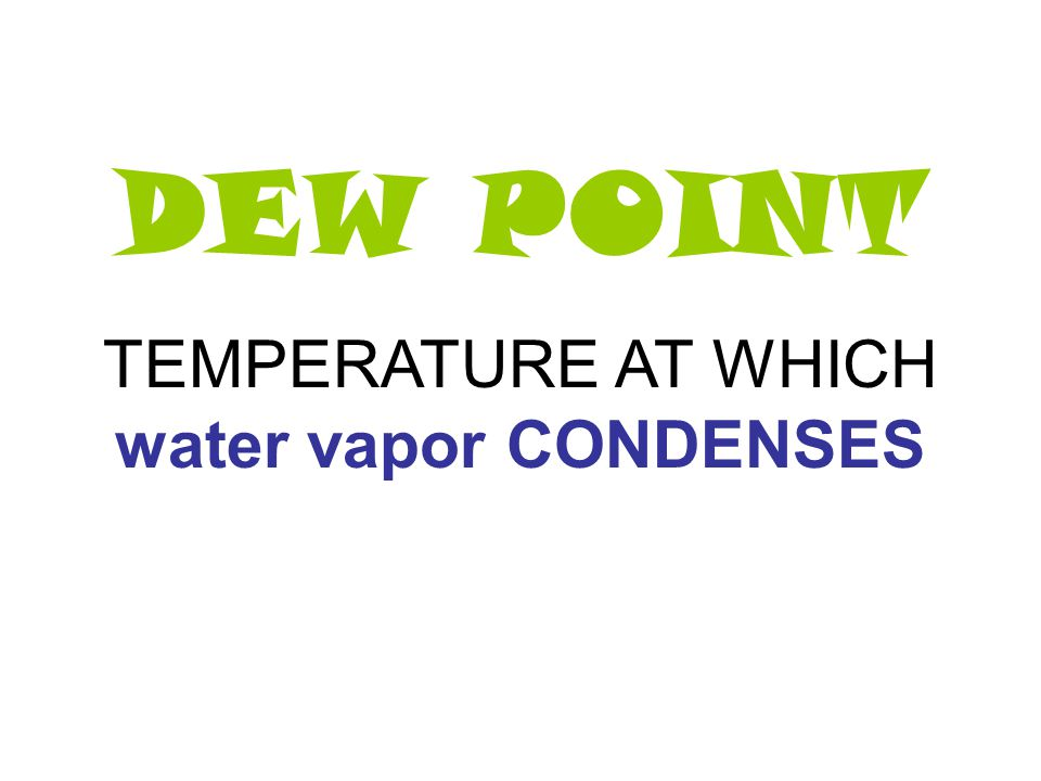 CONDENSATION WATER VAPOR CHANGES INTO LIQUID (need cold temp)