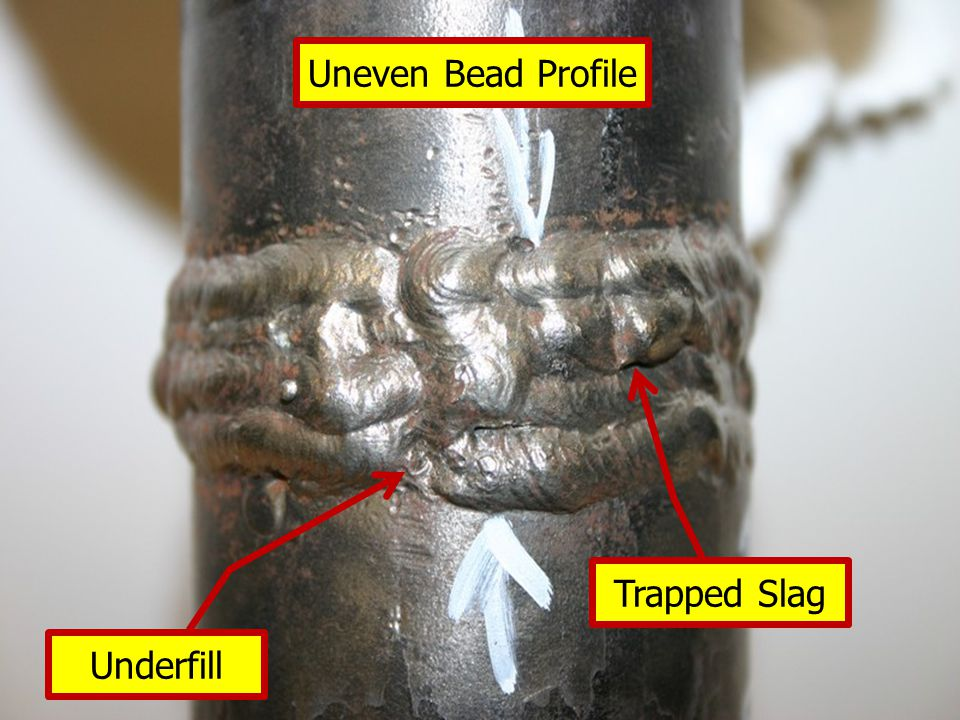 Underfill Trapped Slag Uneven Bead Profile