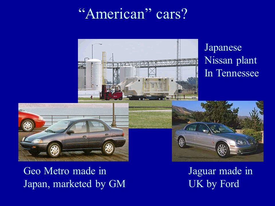 1. General Motors 2. Ford 3. DaimlerChrysler 4.