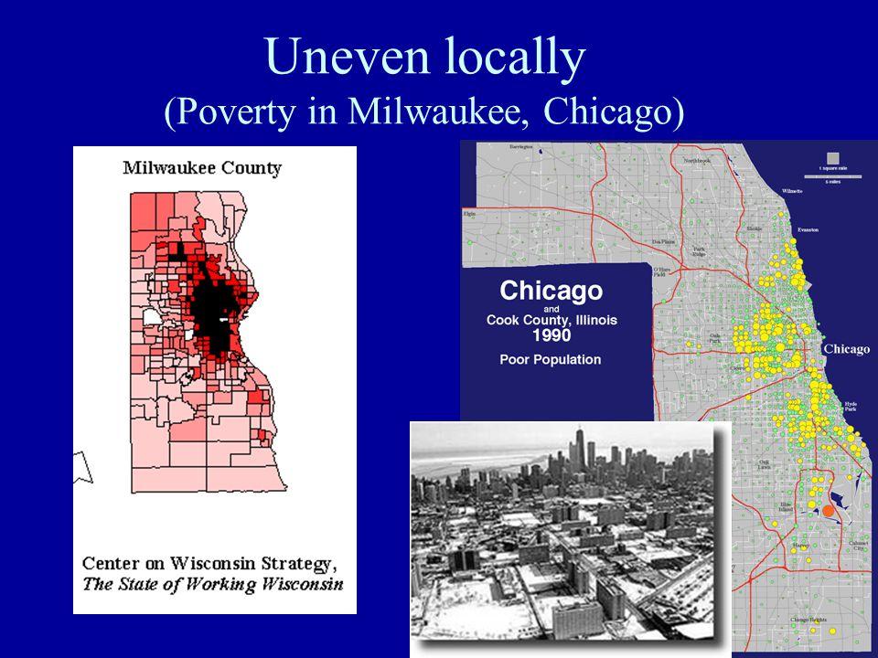 Uneven regionally