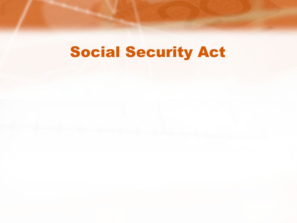 Social Security Act