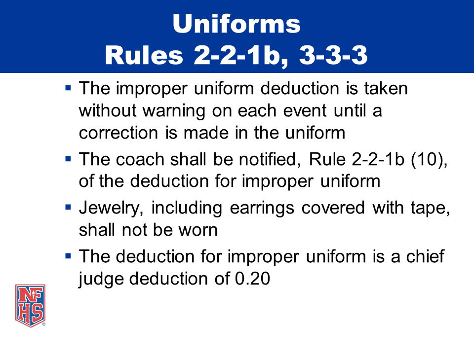 Vault - Neutral Deduction Rule 6-5-1  There is a 0.50 deduction for a coach/spotter standing between the board and the table  This is defined as the area inside the domain of the apparatus – shown below