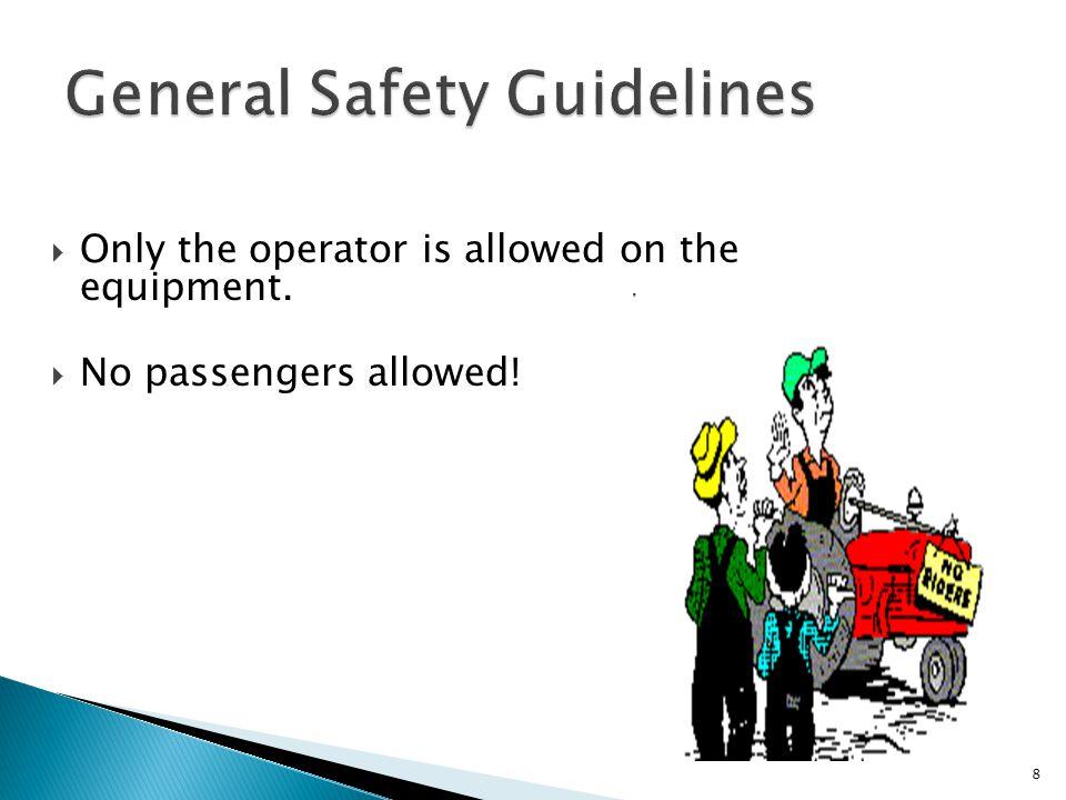 To avoid these hazards...