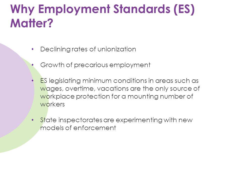 Why Employment Standards (ES) Matter.