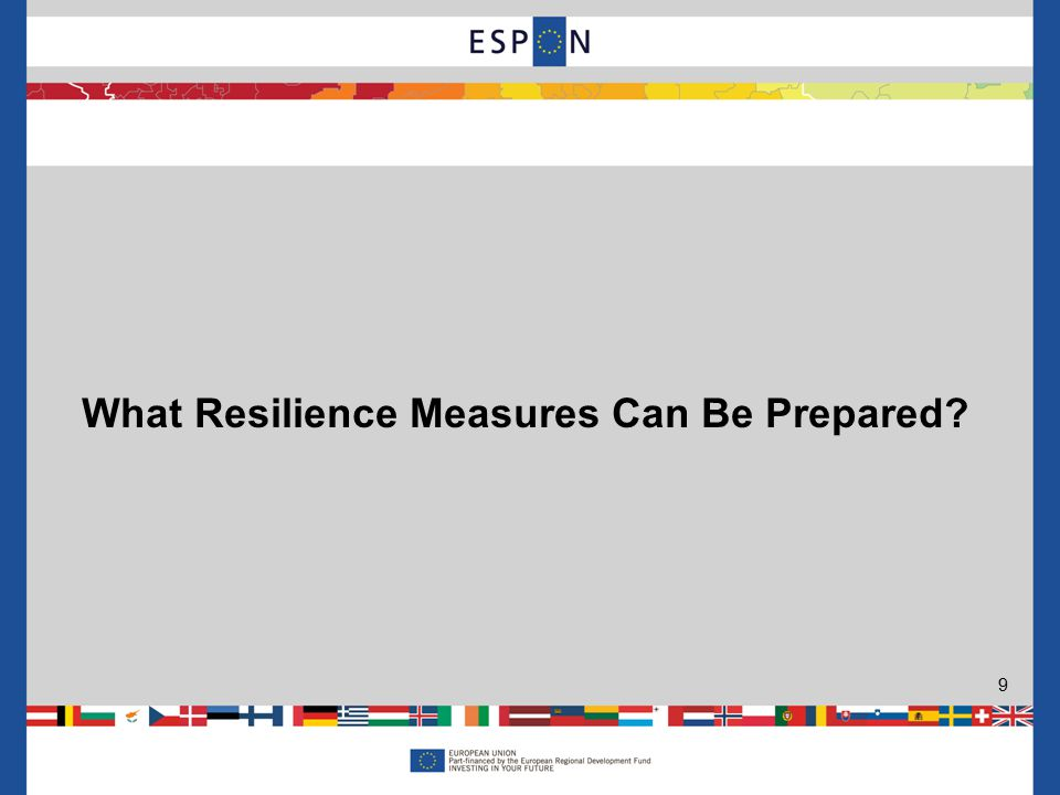 What Resilience Measures Can Be Prepared 9