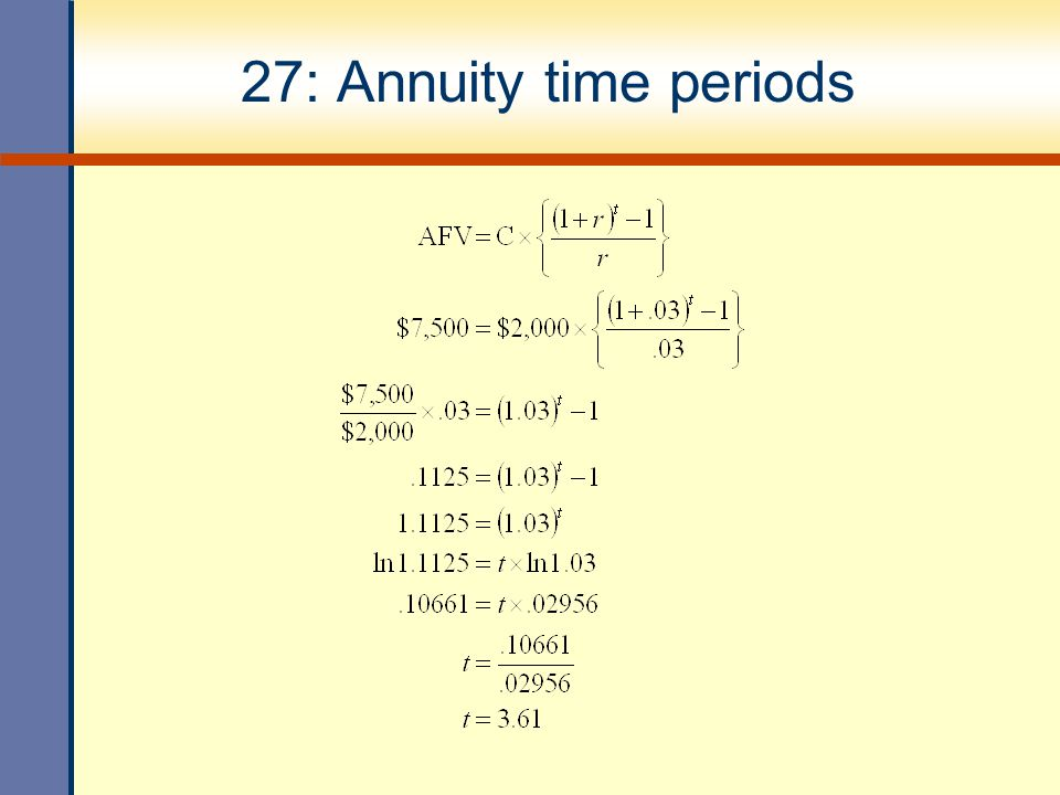 27: Annuity time periods