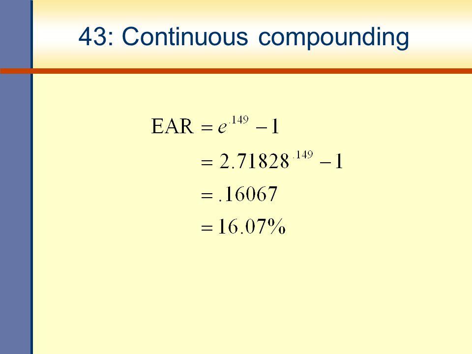 43: Continuous compounding