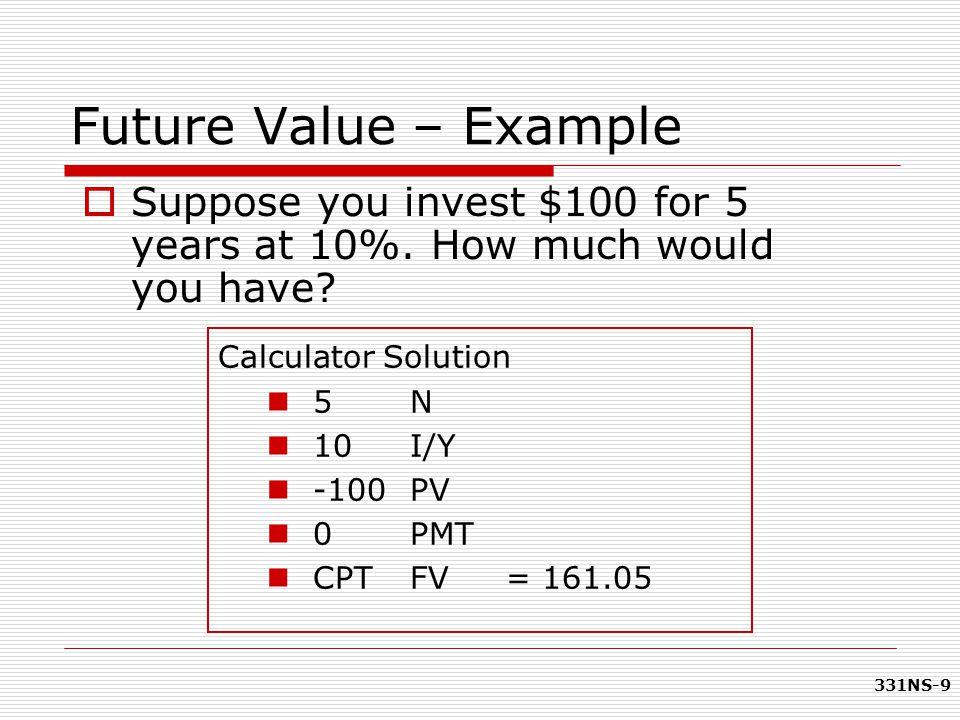 331NS-90 Coefficient of Variation (CV)  CV = Standard deviation/expected return = Risk per unit of return =