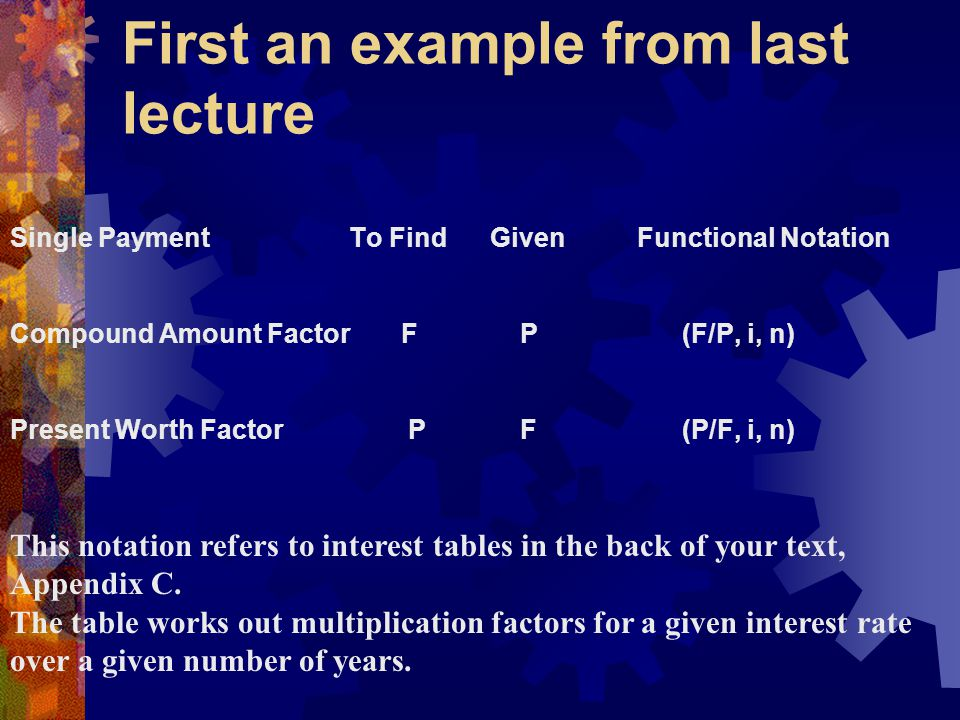 Example: For the given cash flow, determine F at 30 years, 4%.