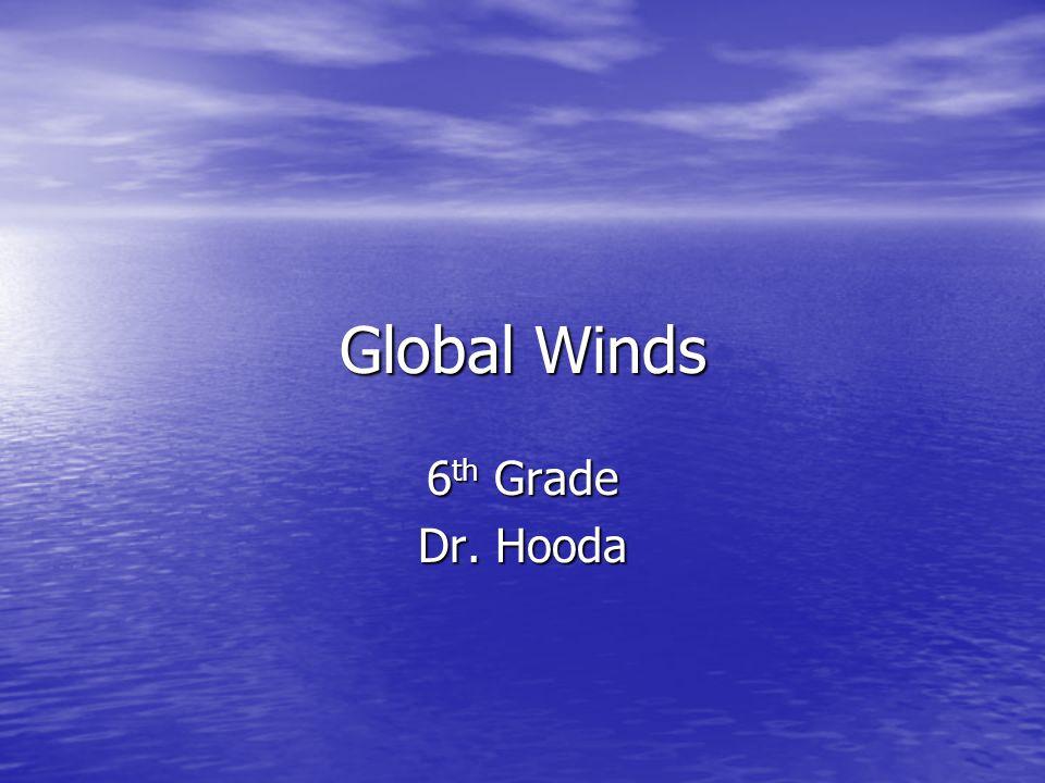 Global Winds 6 th Grade Dr. Hooda