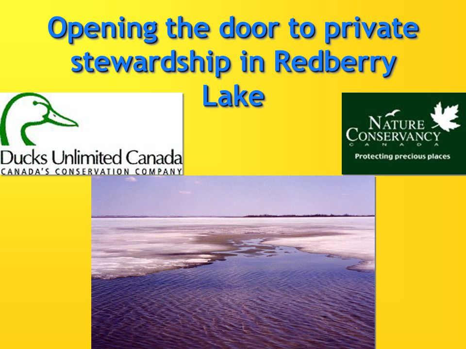 Opening the door to private stewardship in Redberry Lake