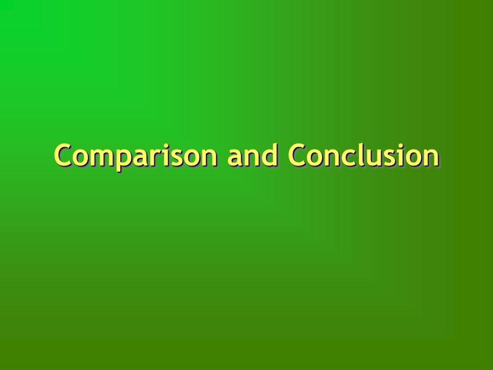 Comparison and Conclusion