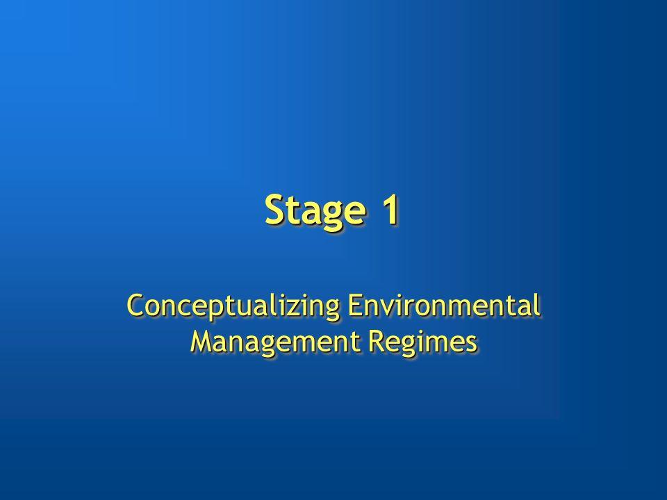 Stage 1 Conceptualizing Environmental Management Regimes