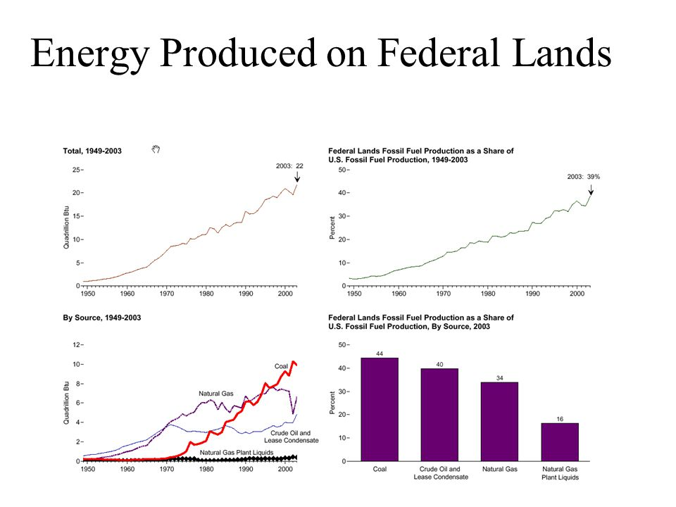 Energy Produced on Federal Lands