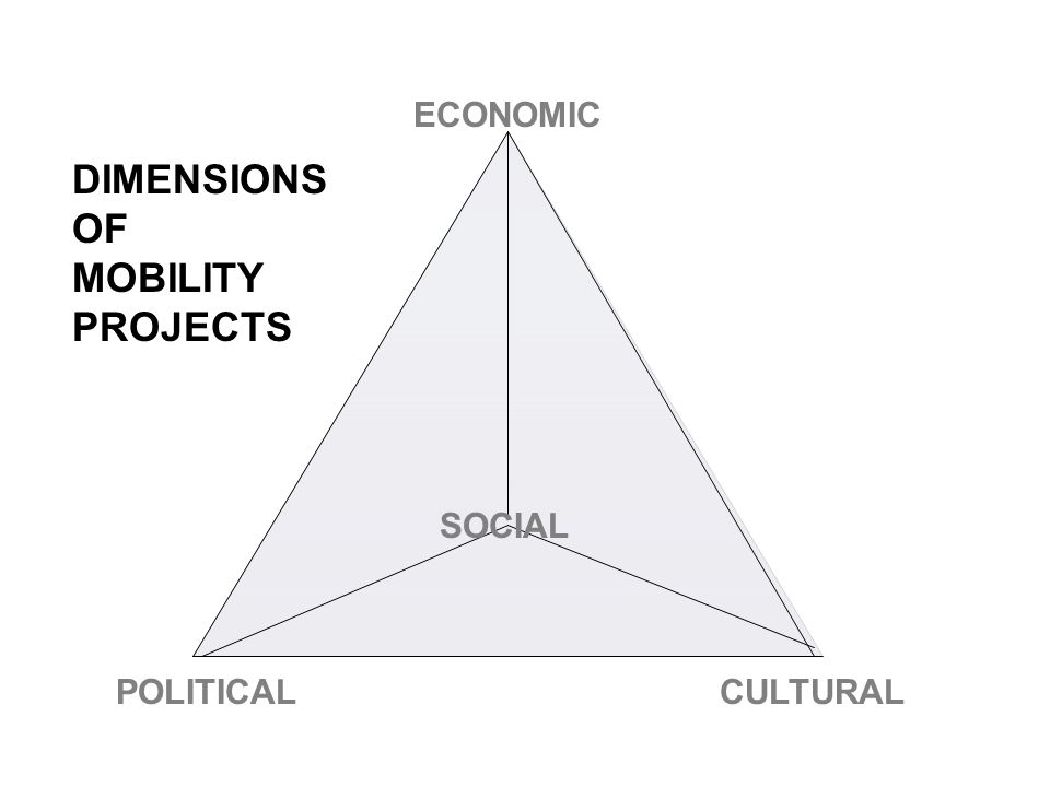 ECONOMIC POLITICALCULTURAL DIMENSIONS OF MOBILITY PROJECTS SOCIAL