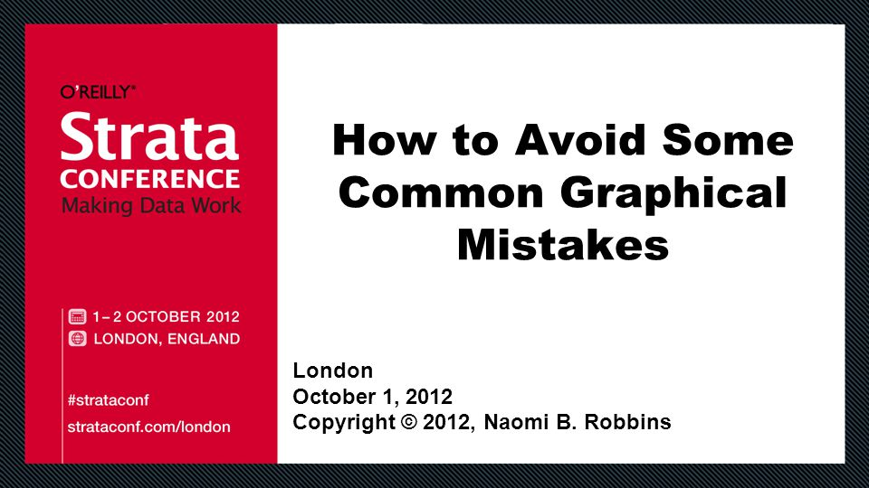 How to Avoid Some Common Graphical Mistakes London October 1, 2012 Copyright © 2012, Naomi B.