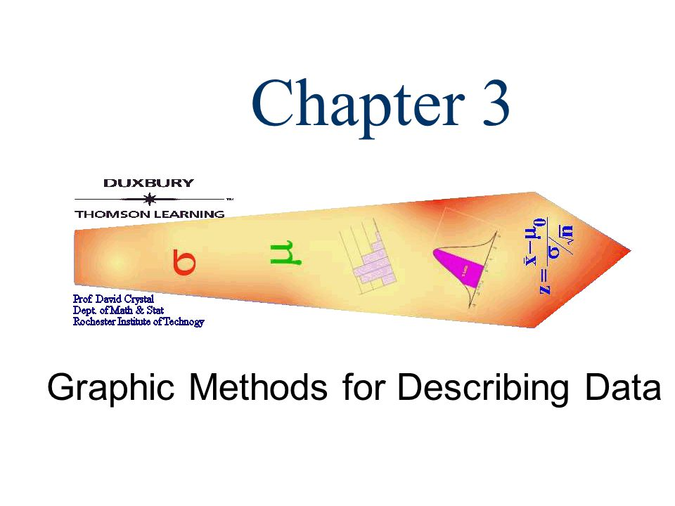 Chapter 3 Graphic Methods for Describing Data