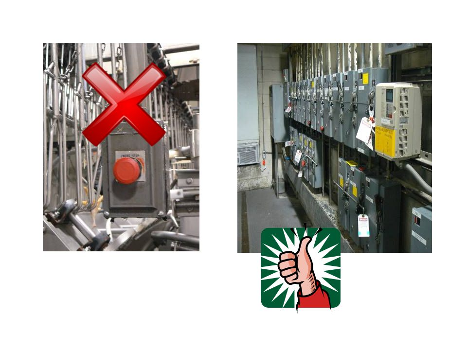 Energy control procedure Notification of employees Preparation for shutdown Machine or equipment shutdown Machine or equipment isolation Lockout/tagout device application Stored energy Verification of isolation Release from lockout/tagout