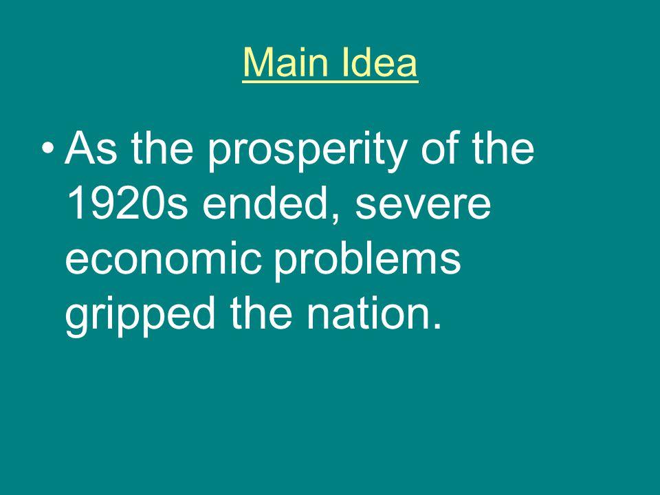 Mass unemployment….