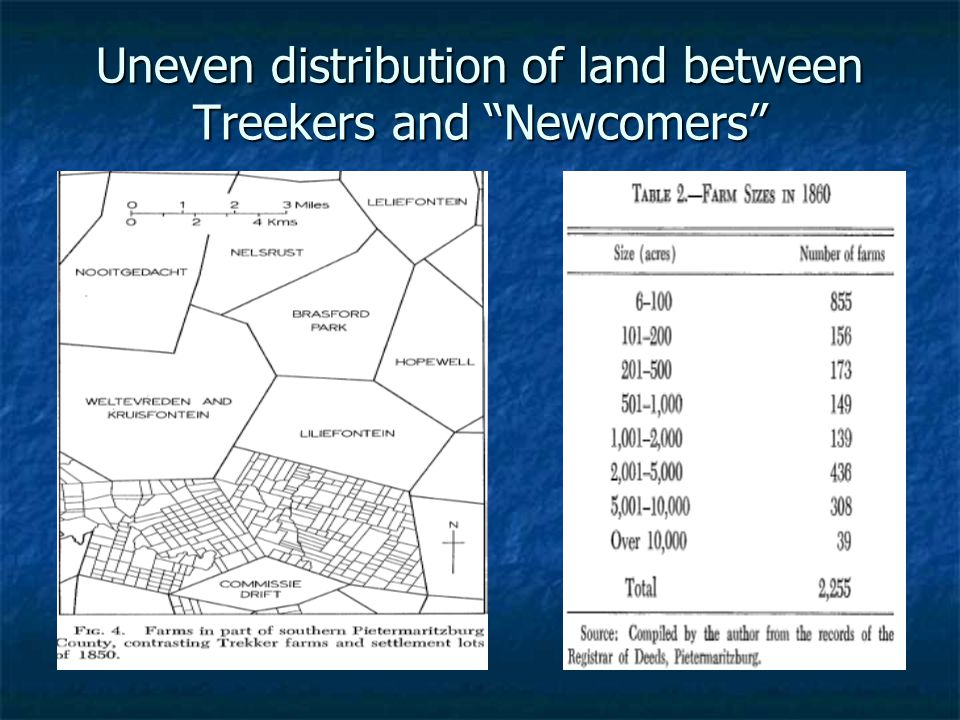 """Uneven distribution of land between Treekers and """"Newcomers"""""""