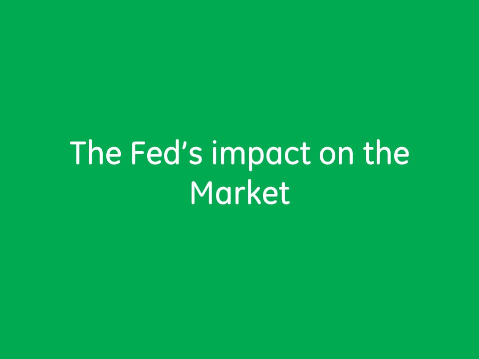 The Fed's impact on the Market