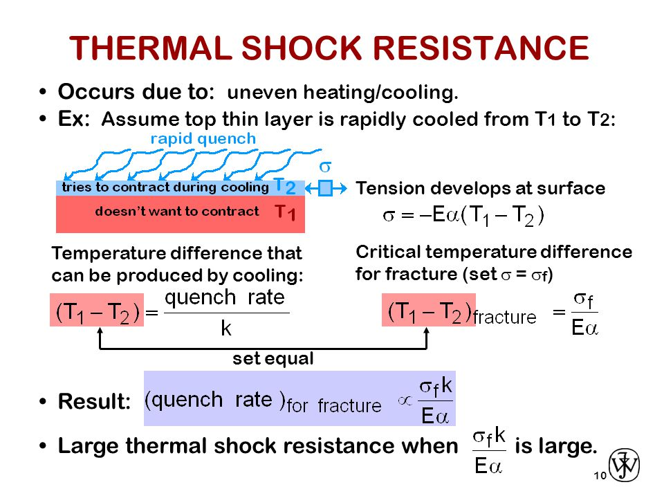 10 Occurs due to: uneven heating/cooling.