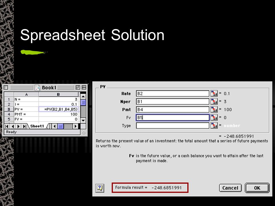 Spreadsheet Solution
