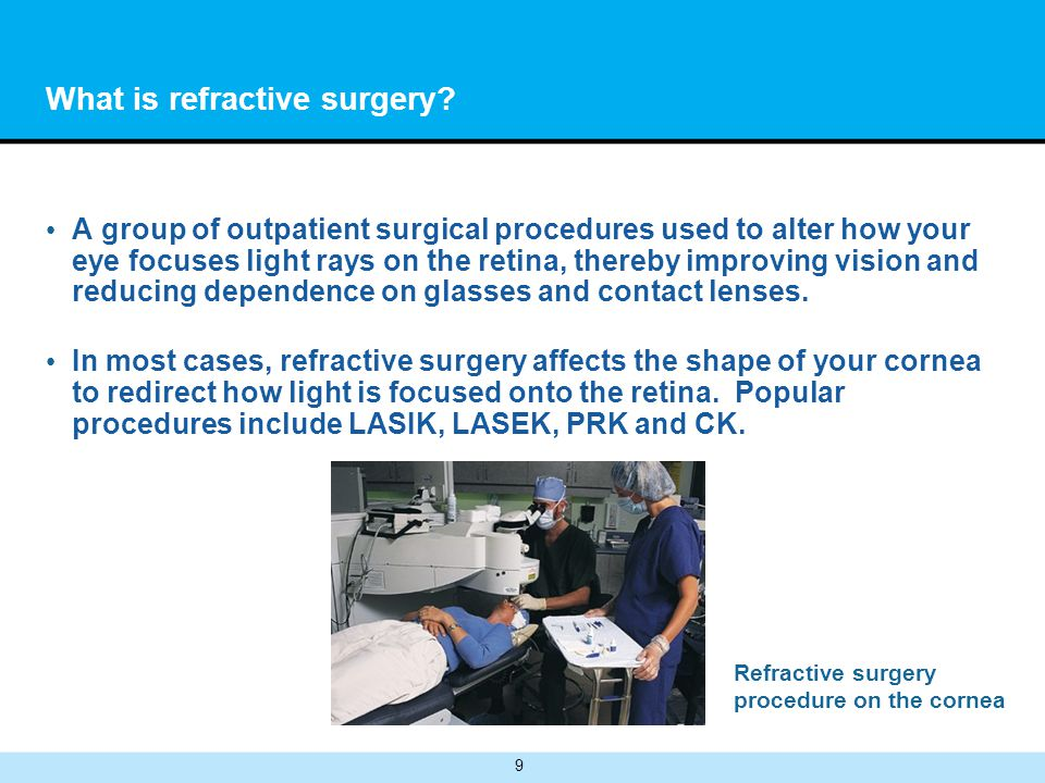 10 What is refractive surgery.