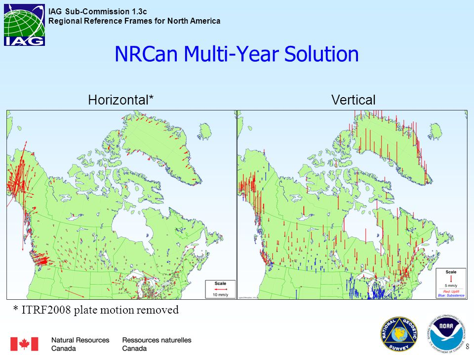 IAG Sub-Commission 1.3c Regional Reference Frames for North America NGS Multi-Year Solution 9