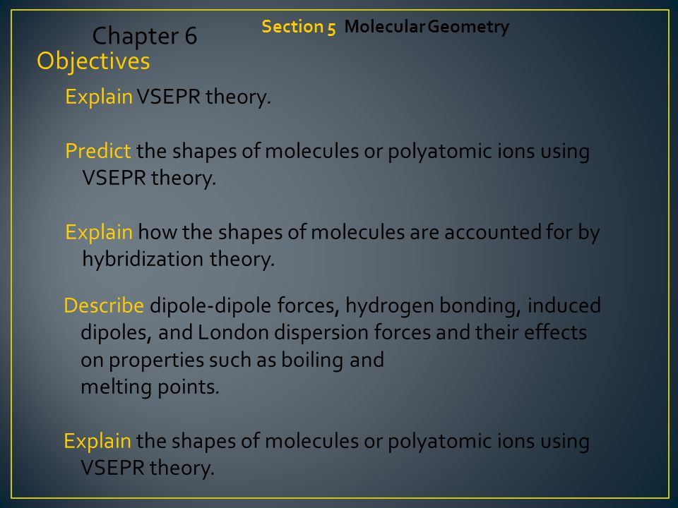 VSEPR theory can also account for the geometries of molecules with unshared electron pairs.