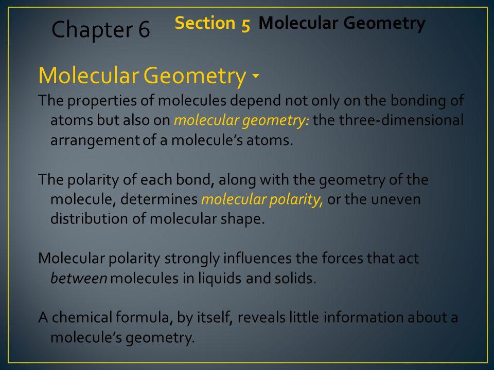 A molecule can possess polar bonds and still be nonpolar.