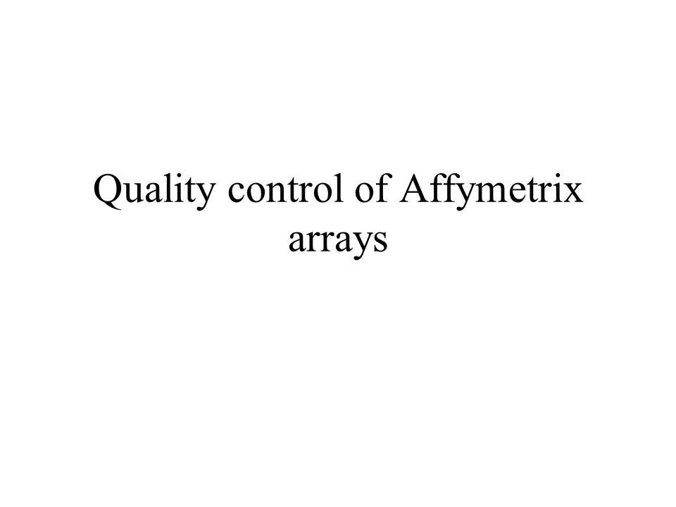 Quality control of Affymetrix arrays
