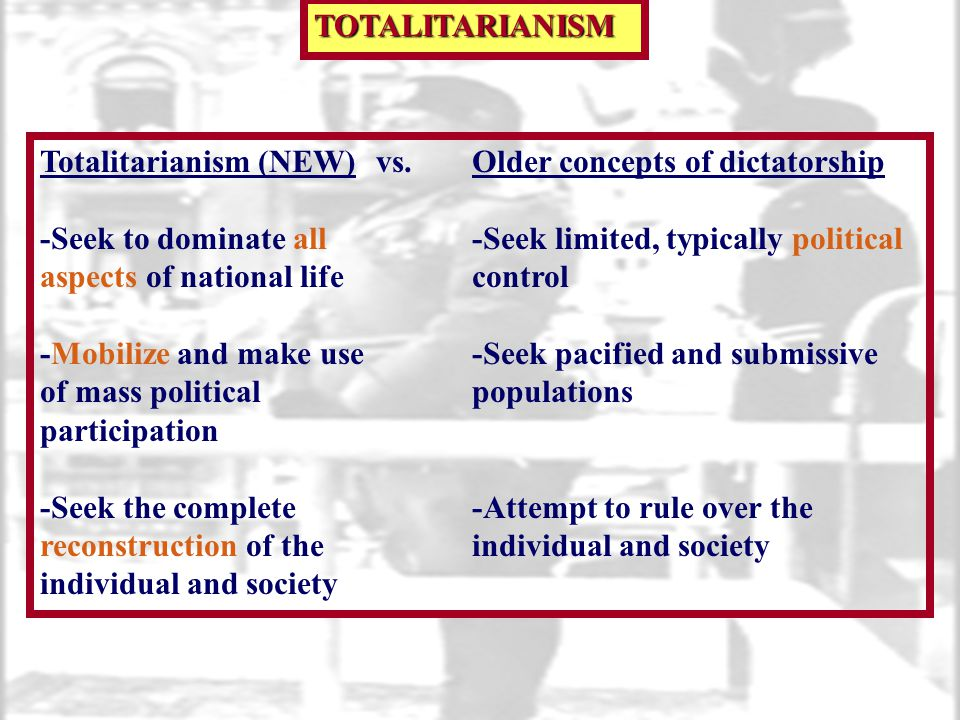 Totalitarianism (NEW)vs.