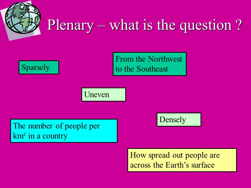 Homework Explain why some areas of the UK are densely populated and why some areas are sparsely populated.