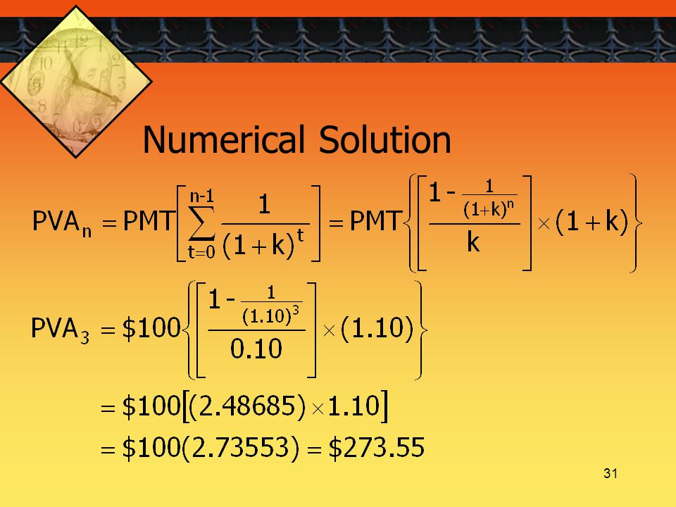 31 Numerical Solution