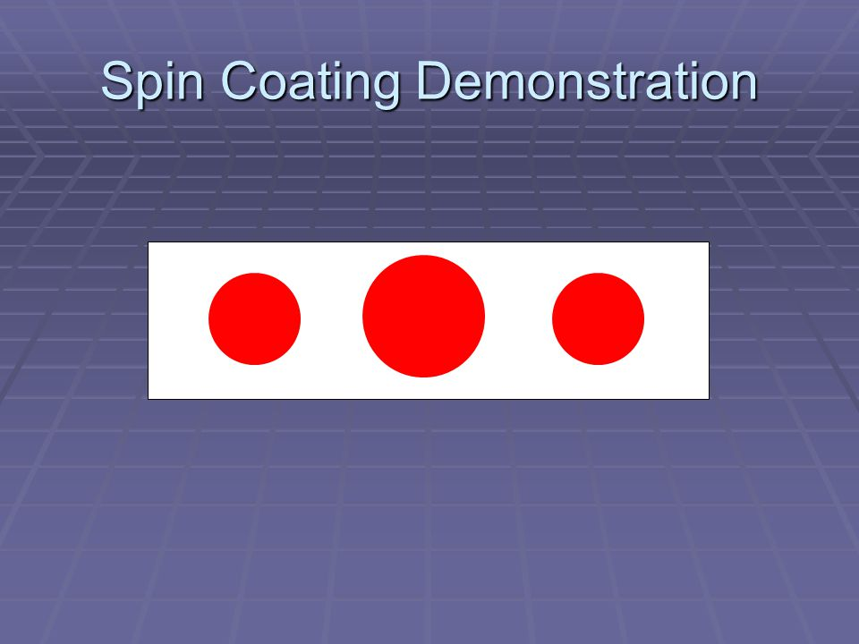 Spin Coating Demonstration