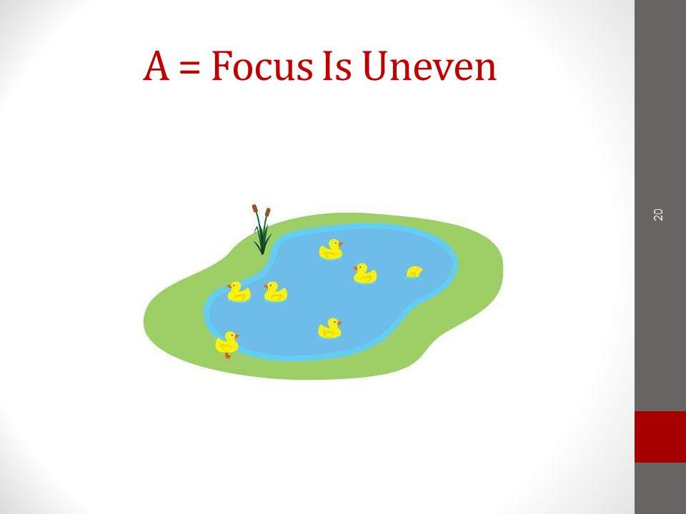 A = Focus Is Uneven 20