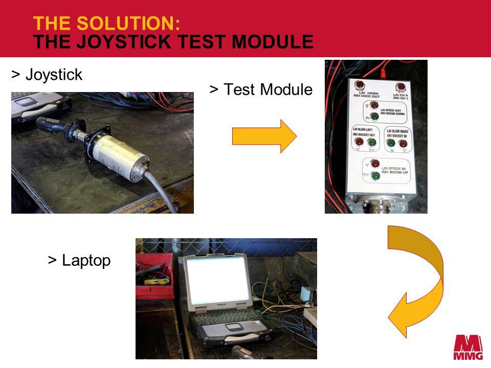 THE SOLUTION: THE JOYSTICK TEST MODULE >Test Module >Joystick >Laptop