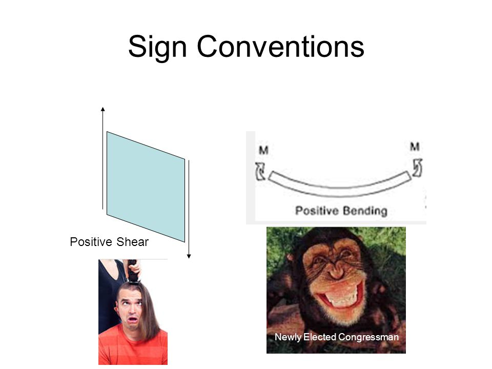 Sign Conventions Positive Shear Newly Elected Congressman