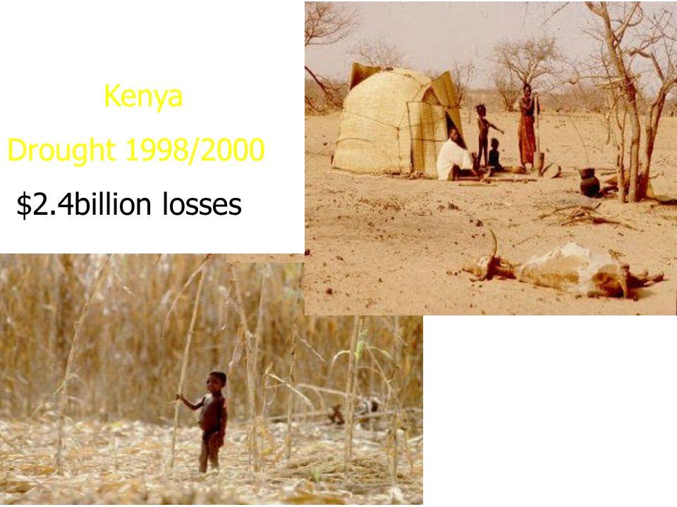 Kenya Drought 1998/2000 $2.4billion losses