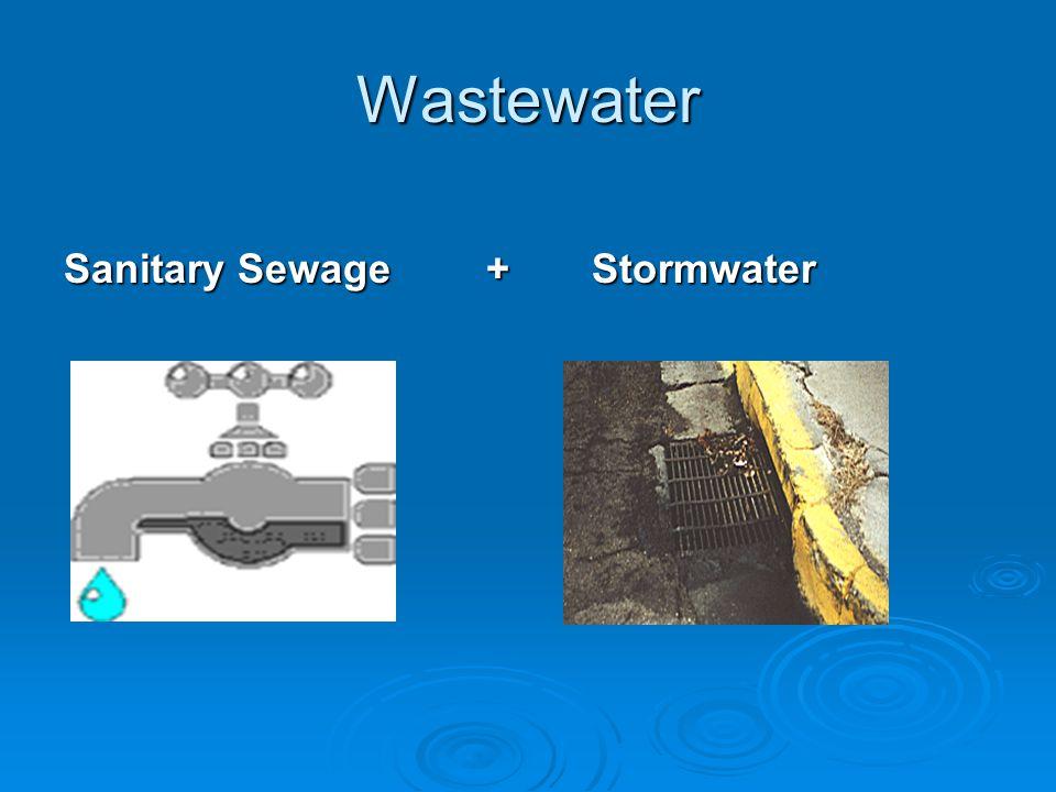 Wastewater Sanitary Sewage+Stormwater
