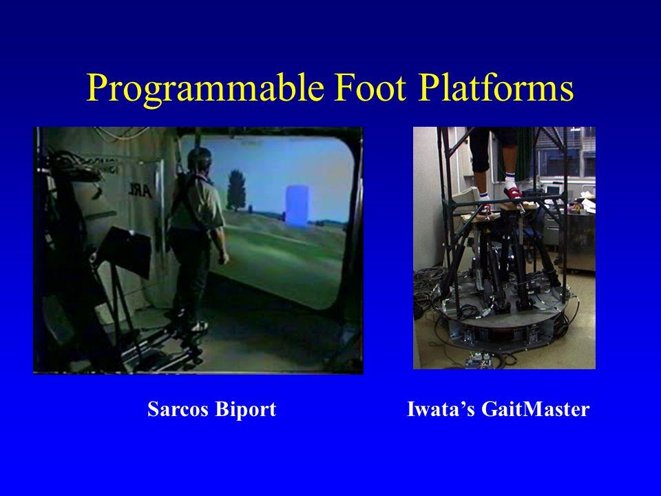 Programmable Foot Platforms Sarcos BiportIwata's GaitMaster