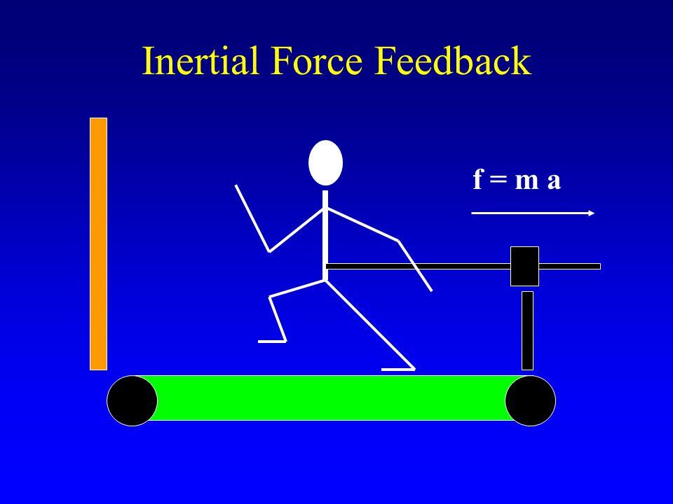 Inertial Force Feedback f = m a