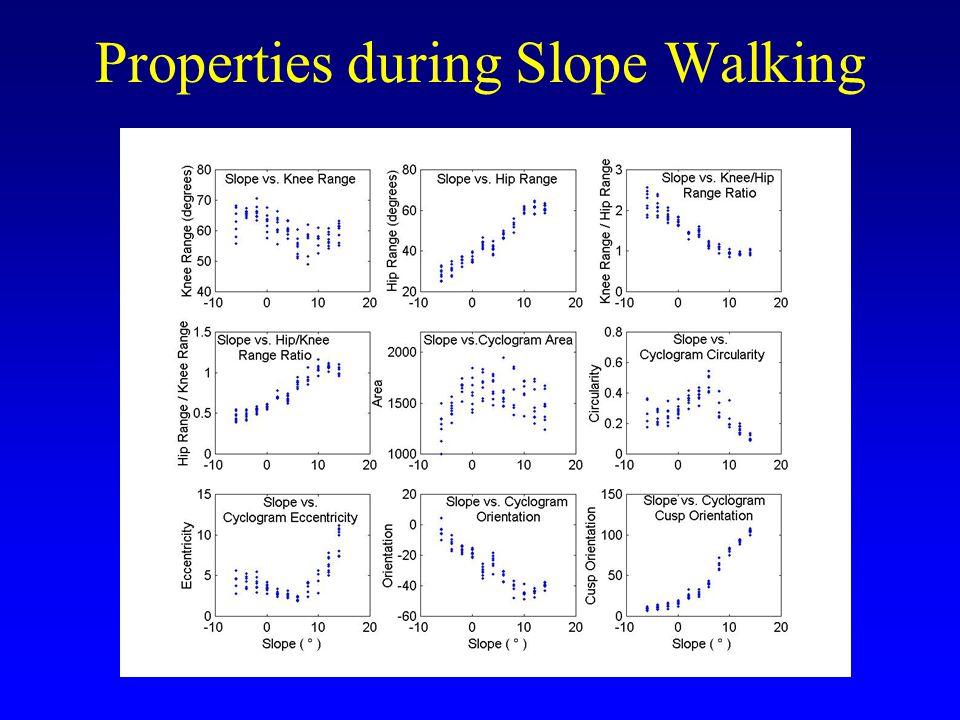 Properties during Slope Walking
