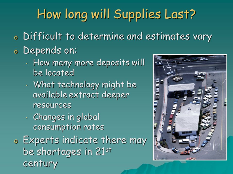 How long will Supplies Last.