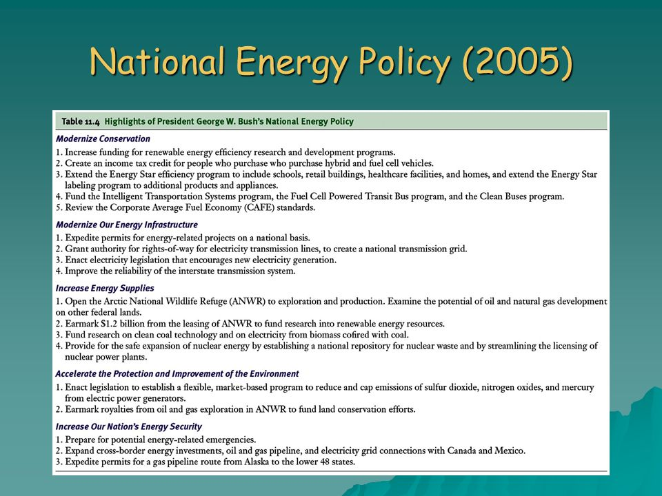 National Energy Policy (2005)