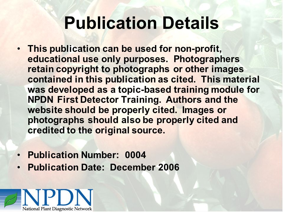 Publication Details This publication can be used for non-profit, educational use only purposes.